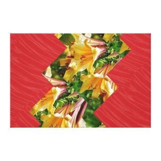 Red Silken Fabric ARTISTIC Strips: NOVINO Graphics Gallery Wrap Canvas