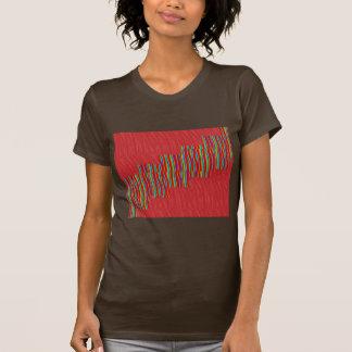 Red silky pattern ACROSS STEP GRAPHIC ART MULTI IM Shirt