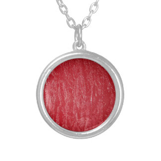 Red Silver Plated Necklace