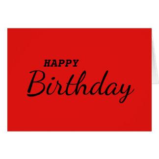 Red Simple Pop Art Happy Birthday Card