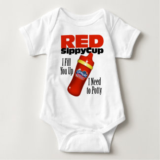 Red Sippy Cup Baby Bodysuit