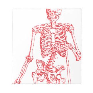 Red Skeleton Notepad