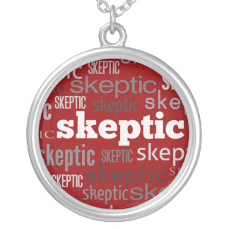 Red Skeptic Pendant Necklace
