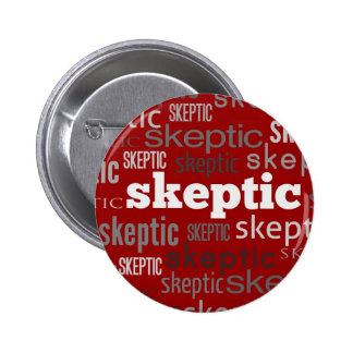 Red Skeptic Pin-Back Buttons