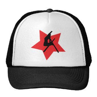 red ski jump icon cap