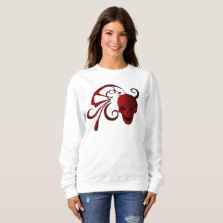 Red Skull Abstract Sweatshirt