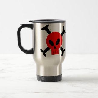 Red Skull And Crossbones Mug
