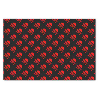 Red Skull and Crossbones Pattern Tissue Paper