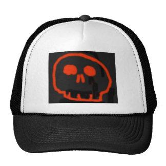 Red Skull Mesh Hat