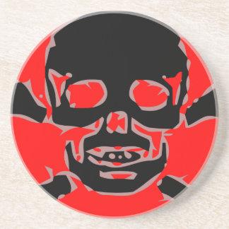 Red skull beverage coaster