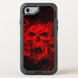 red skull head art OtterBox defender iPhone 7 case