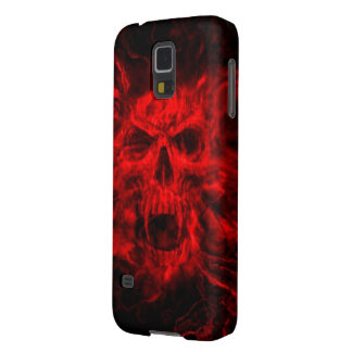 red skull head galaxy s5 covers