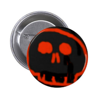 Red Skull Pinback Buttons