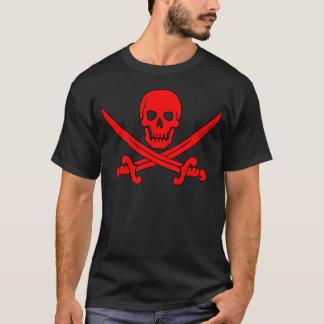 Red Skull & Swords Pirate Flag T-Shirt