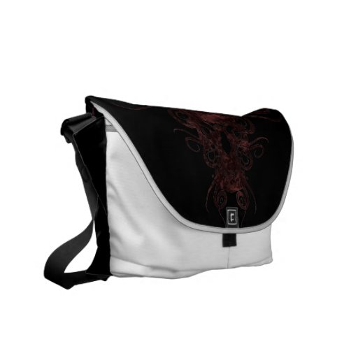 Red Skull Tote Courier Bags