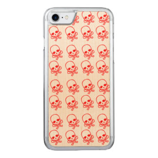Red Skulls Carved iPhone 8/7 Case