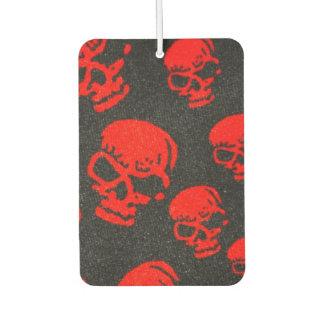 Red Skulls on Black Car Air Freshener