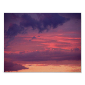 Red Sky at Dusk Poster