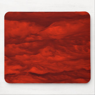 Red Sky at Morning Clouds Mouse Pad
