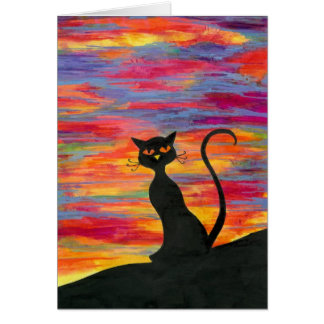 Red Sky at Night, Cat's Delight Card