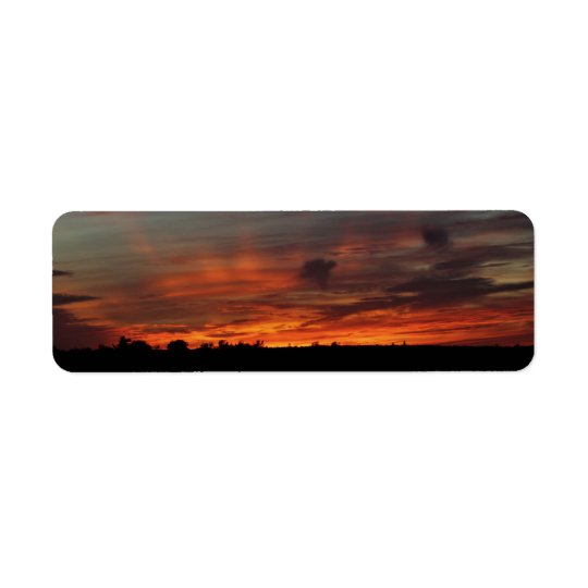 Red Sky at Night Return Address Label