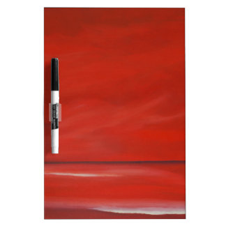 Red sky. dry erase board