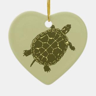 Red Slider Turtle Ceramic Ornament