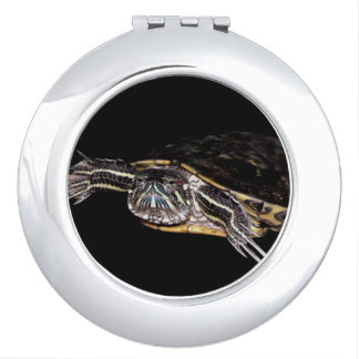 Red Slider Turtle Compact Mirror