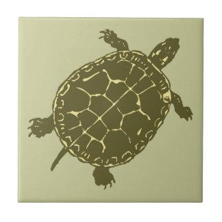 Red Slider Turtle Tile