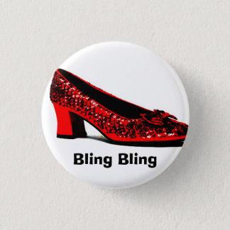 red slippers, Bling Bling 3 Cm Round Badge