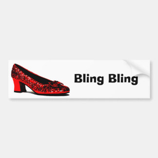 red slippers, Bling Bling Bumper Sticker