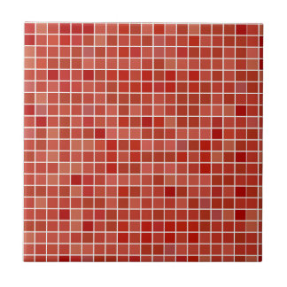 Red Small or Large Ceramic Photo Tile