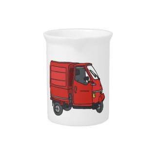 Red small transporter beverage pitcher