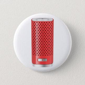 Red smart speaker 6 cm round badge