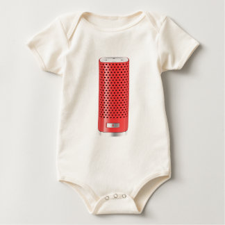 Red smart speaker baby bodysuit