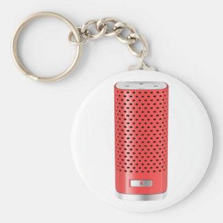 Red smart speaker key ring