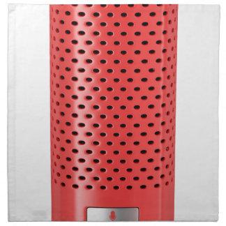 Red smart speaker napkin