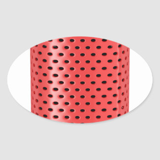 Red smart speaker oval sticker