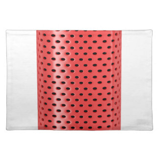 Red smart speaker placemat