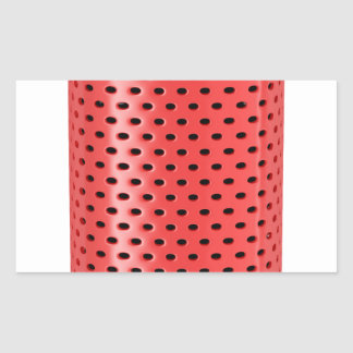 Red smart speaker rectangular sticker
