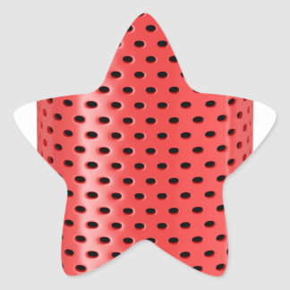 Red smart speaker star sticker
