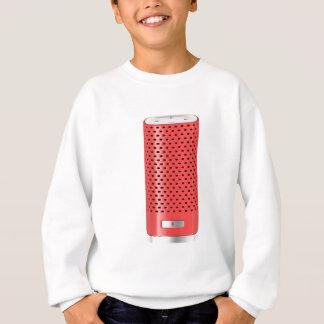 Red smart speaker sweatshirt