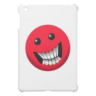 red smiley face iPad mini case