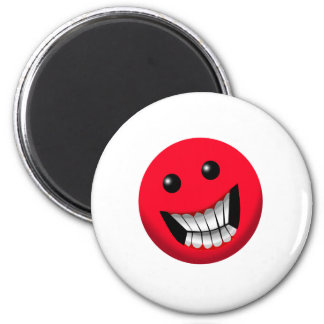 red smiley face refrigerator magnets