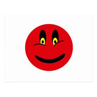 Red Smiley Face Postcard
