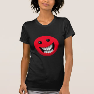 red smiley face t-shirt