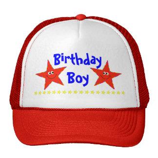 Red Smiley Stars Birthday Party Cap Trucker Hat