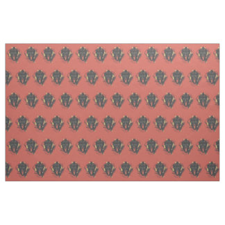 Red Smiling Krampus Switch Fabric