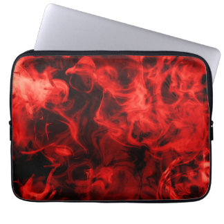 Red smoke laptop sleeve