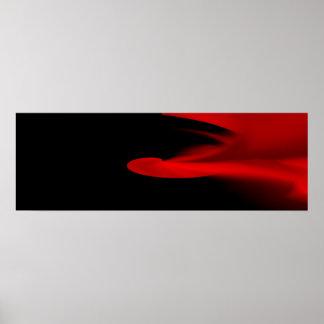 """Red Smoke"" Minimalist Narrow Horizontal Poster"